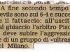 La Gazzetta dello sport DERBY ANNI '90 Cronaca